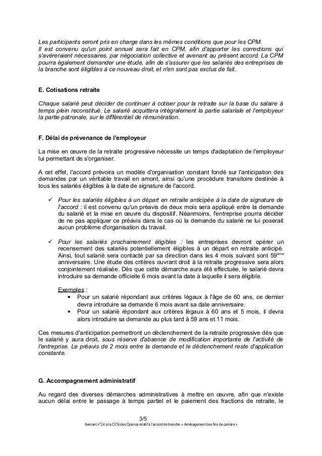 Idcc 2257 Avenant N 24 Accord De Branche Sur Amenagement Des Fins D