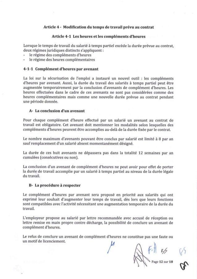 Avenant n° 38 du 21 janvier 2016 relatif aux modalités d'organisation…
