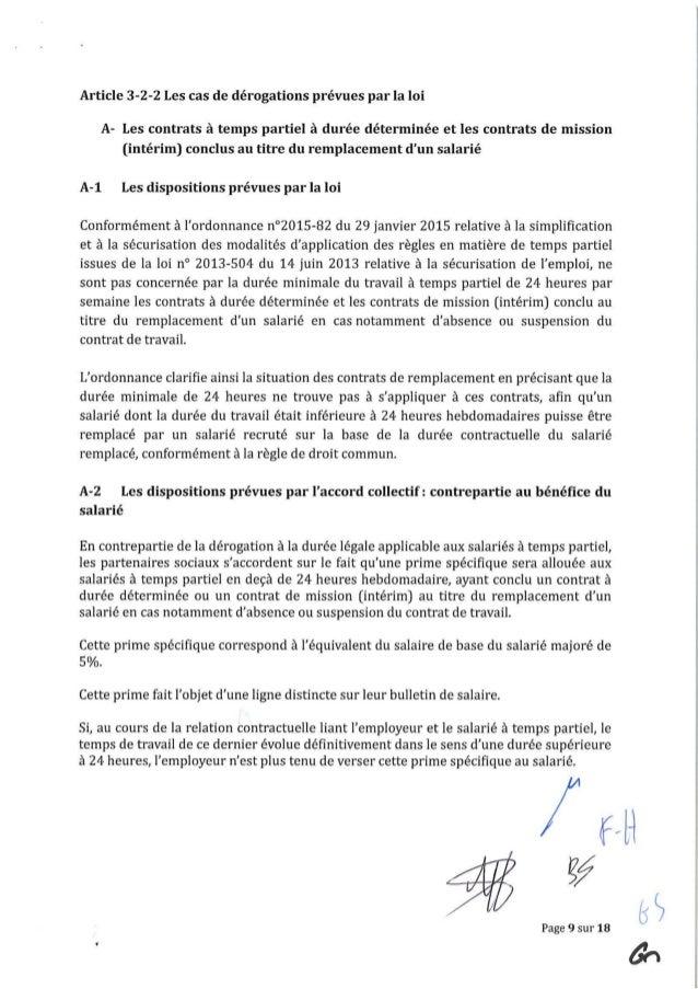 Avenant N 38 Du 21 Janvier 2016 Relatif Aux Modalites D Organisation