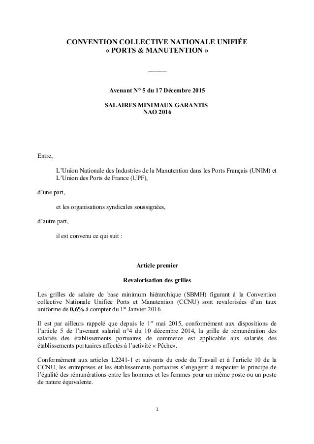 Idcc 3017 Avenant N5 Accord Relatif Aux Salaires Minimaux