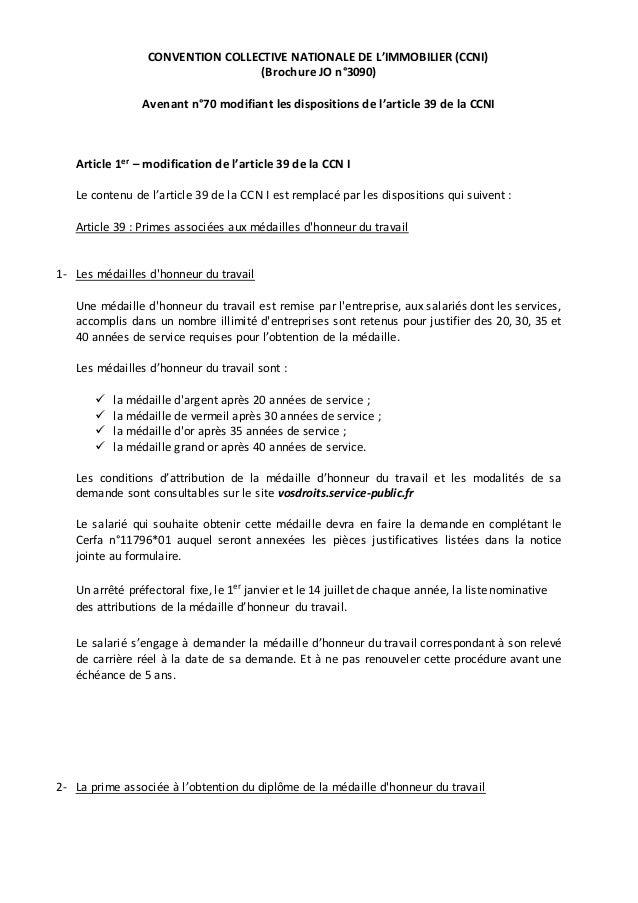 Idcc 1527 Avenant N 70 Du 29 Fevrier 2016