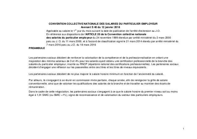 Idcc 2111 Avenant Salaires