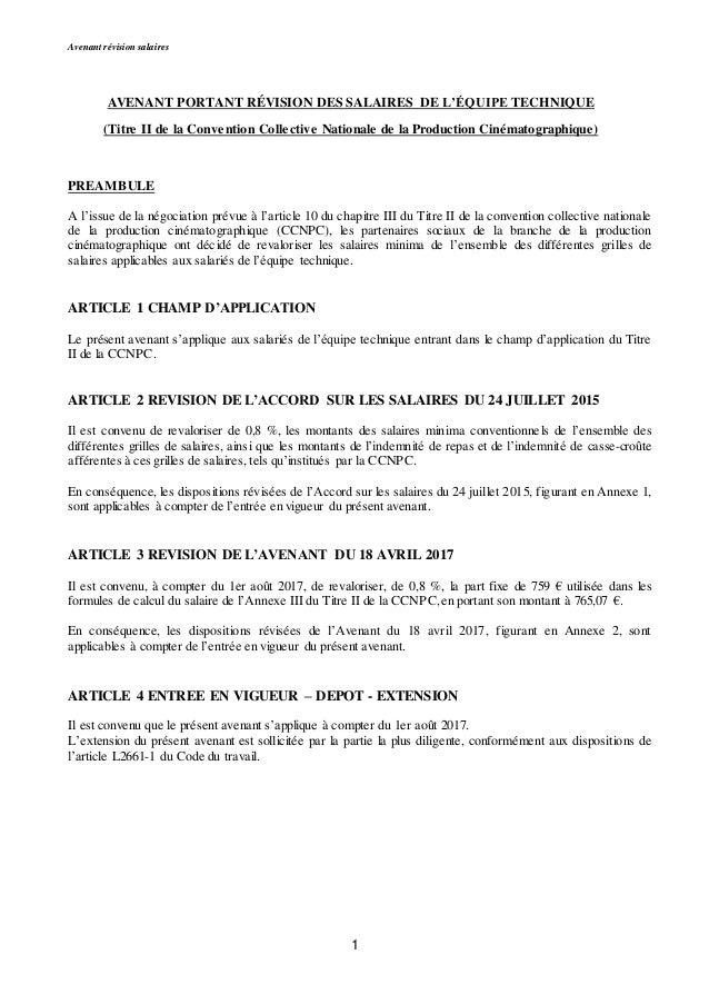 Idcc 3097 Avenant Salaires 2007