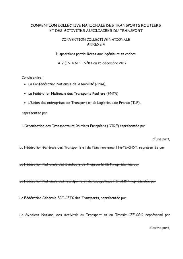 CONVENTION COLLECTIVE NATIONALE DES TRANSPORTS ROUTIERS ET DES ACTIVITES AUXILIAIRES DU TRANSPORT CONVENTION COLLECTIVE NA...