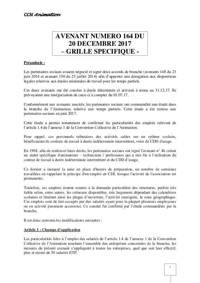 Idcc 1518 Avenant 164 Temps Partiel
