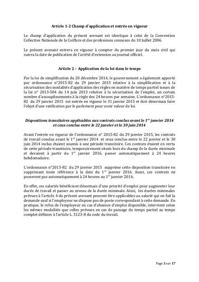 Idcc 2596 Avenant Temps Partiel 19 01 2016