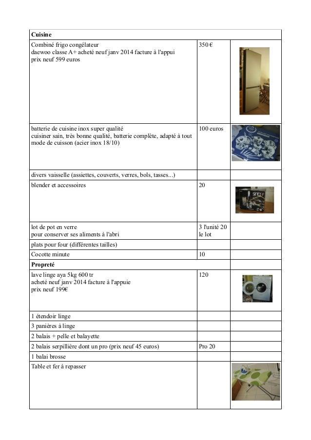 Cuisine Combiné frigo congélateur daewoo classe A+ acheté neuf janv 2014 facture à l'appui prix neuf 599 euros 350 € batte...
