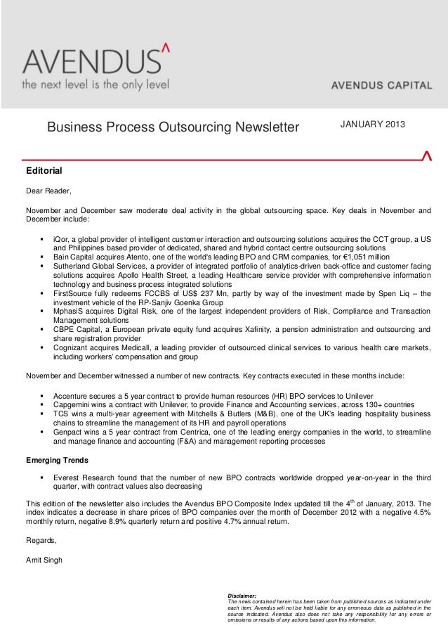 EditorialDear Reader,November and December saw moderate deal activity in the global outsourcing space. Key deals in Novemb...