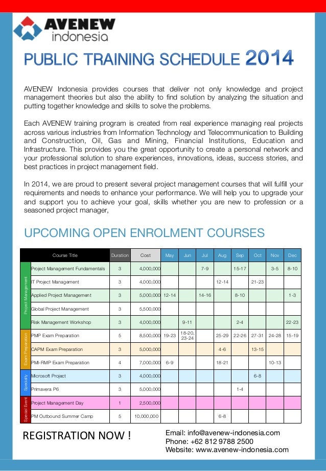 AVENEW Indonesia provides courses that deliver not only knowledge and project management theories but also the ability to ...