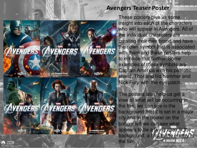 Avengers Full Theatrical Poster  Following on from the teaser  posters came the full posters.  Unlike the teaser posters w...
