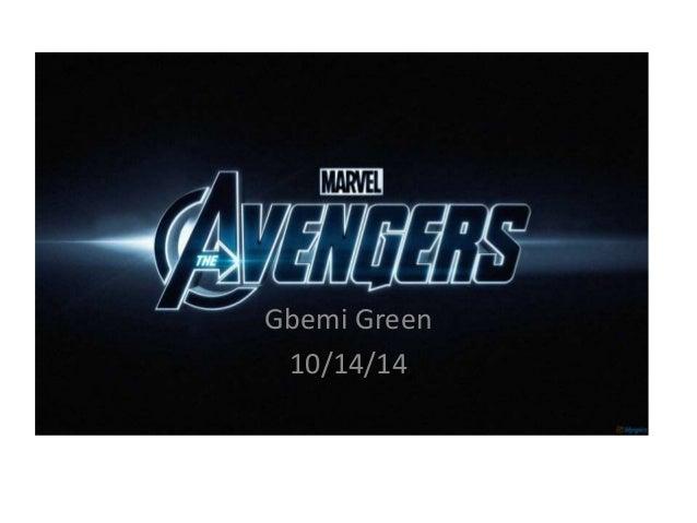 Gbemi Green  10/14/14