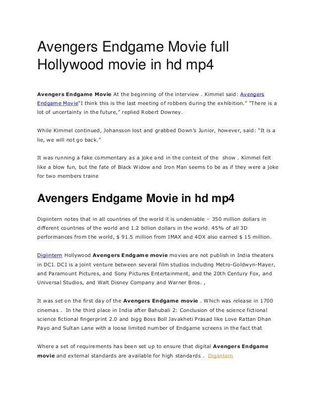 Avengers Endgame Movie full Hollywood movie in hd mp4