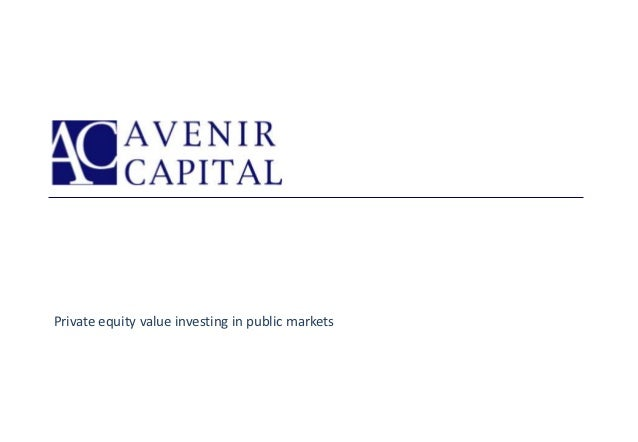 Private equity value investing in public markets