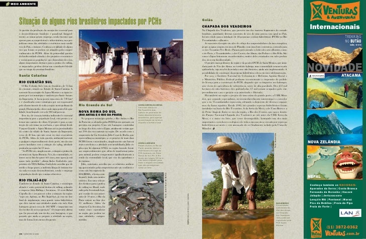 meio ambiente         Situação de alguns rios brasileiros impactados por PCHs                                             ...