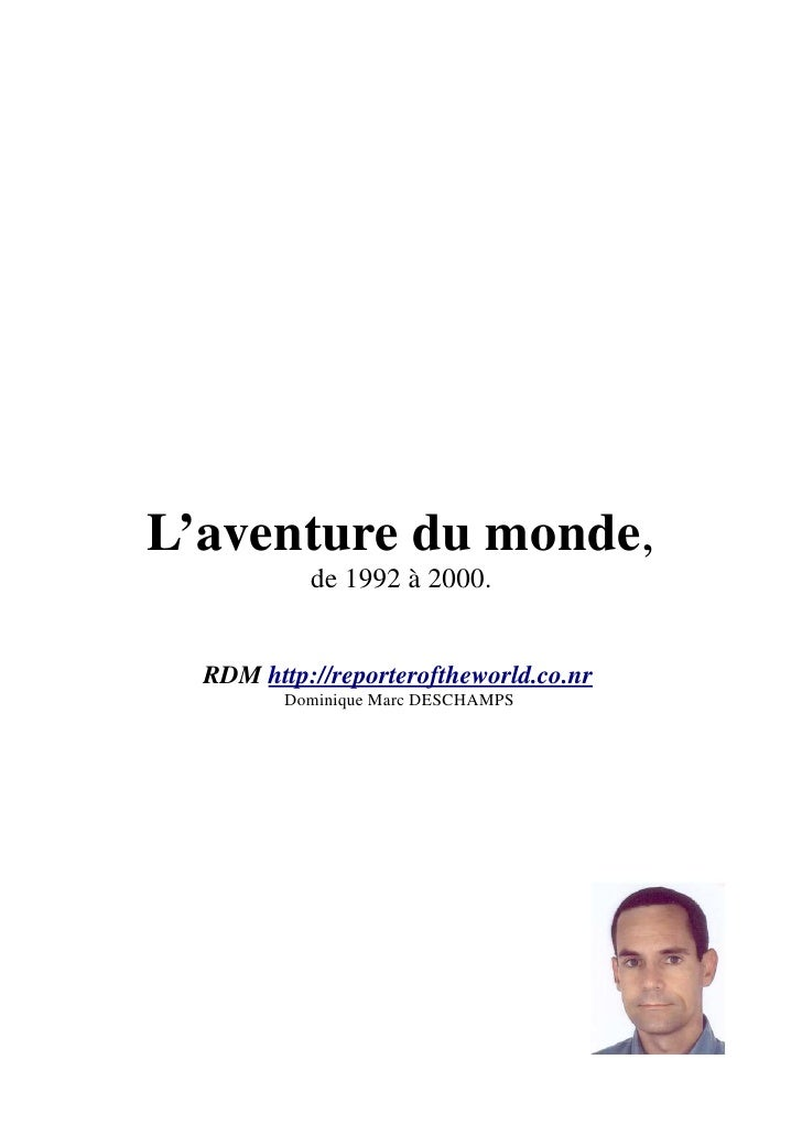 L'Aventure du  monde oct 2009