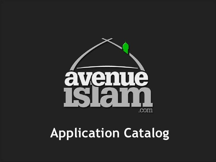 Application Catalog<br />