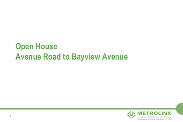 Open House Avenue Road to Bayview Avenue  1