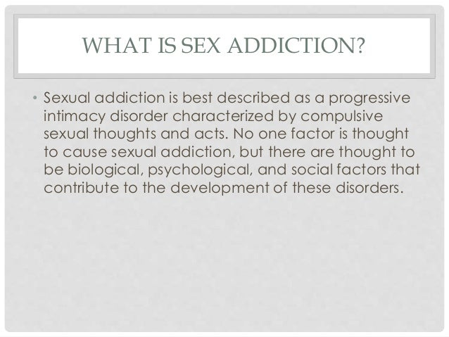 How to know your addicted to sex