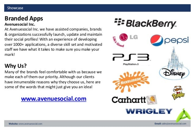 Avenuesocial Inc. At Avenuesocial Inc. we have assisted companies, brands & organizations successfully launch, update and ...