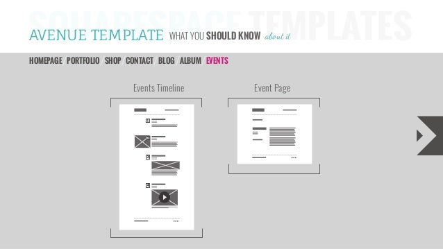 Avenue Squarespace Website Template – Timeline Website Template