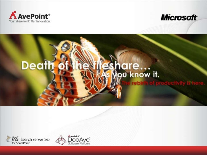 Agenda AvePoint Company Overview SharePoint Overview Scale, Migrate, Protect, Manage AvePoint - DocAve Connector Real Worl...