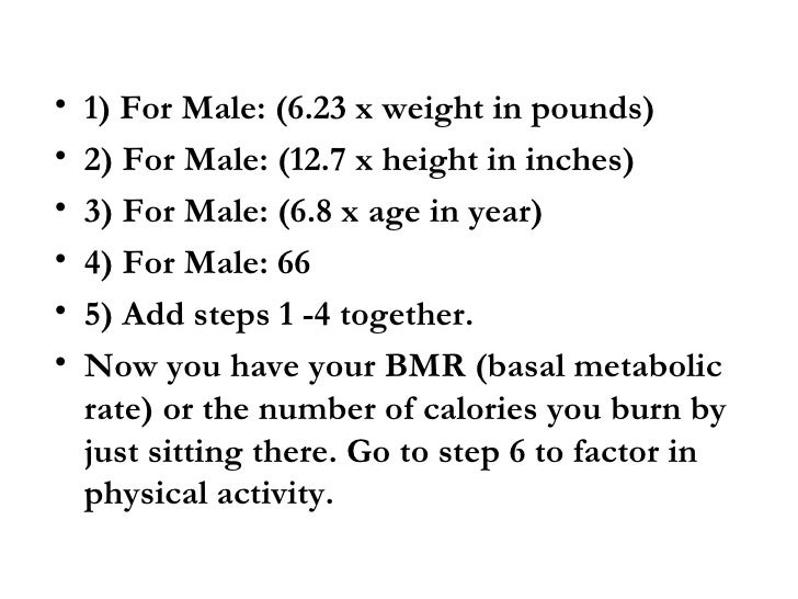 Average Calories Need For A Male Per Day