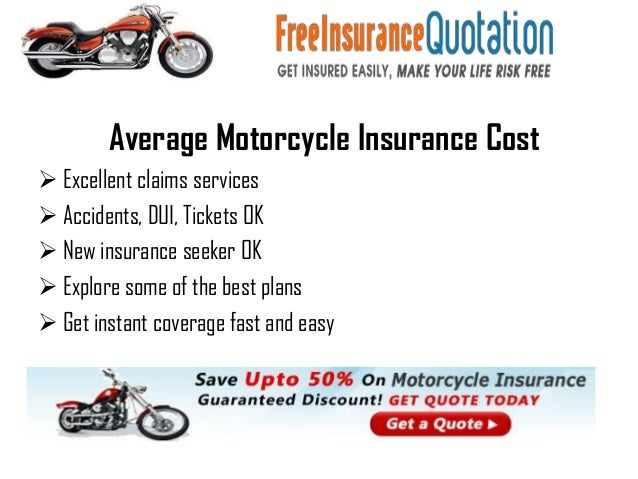 Average Cost For Motorcycle Insurance