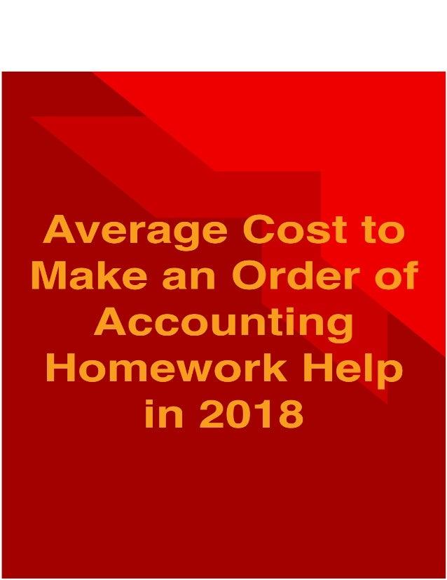 Homework help cost accounting