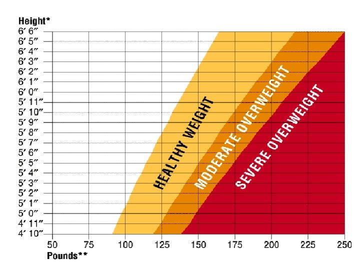 Average Men Weight Chart