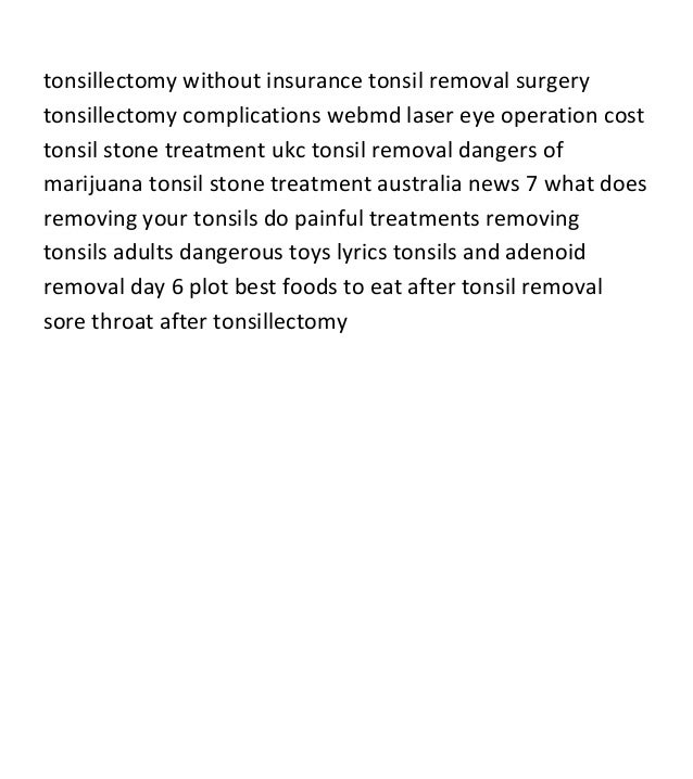Alternative Surgeries I Did Not Have: