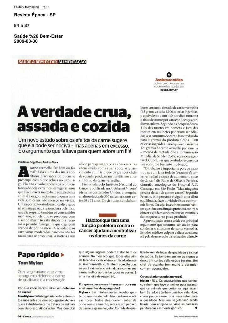 Folder245Imaging - Pg.: 1  Revista Época - SP  84 a 87  Saúde %26 Bem-Estar 2009-03-30