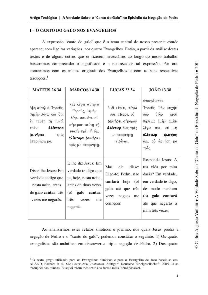 d                  s           ^                                           E                WI – O CANTO DO GALO NOS EVANG...
