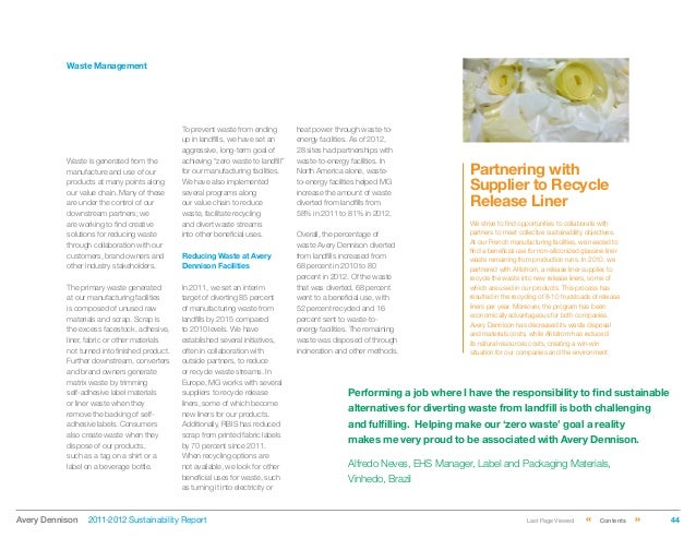 Avery Dennison 2011-2012 Sustainability Report
