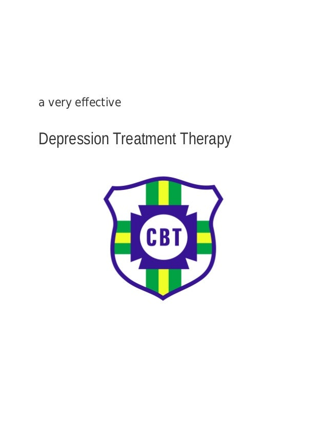 a very effective Depression Treatment Therapy