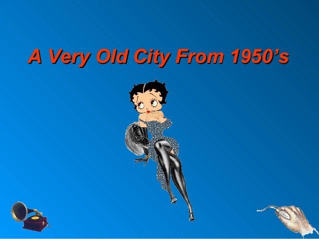 A Very Old City From 1950'sA Very Old City From 1950's
