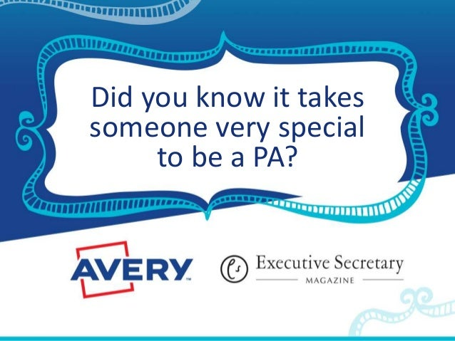 Did you know it takes someone very special to be a PA?
