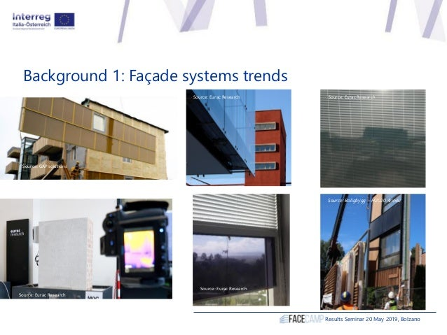 Results Seminar 20 May 2019, Bolzano Source: Rothoblaas Background 1: Façade systems trends Source: Eurac Research Source:...