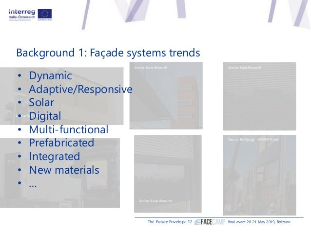 Stefano Avesani, Eurac Research, Institute for Renewable Energy - FACEcamp overview Slide 3