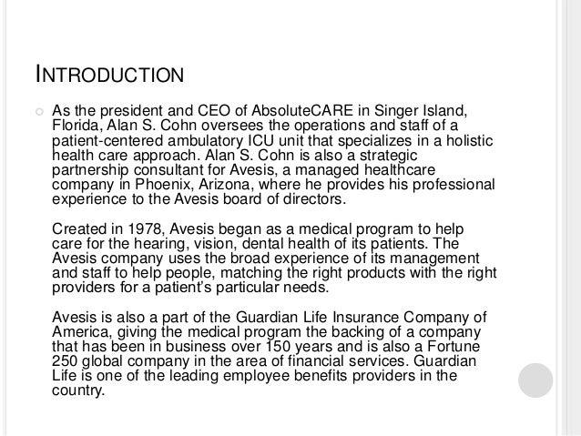Avesis - Guardian Life Insurance Company of America