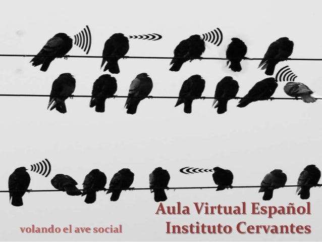 Aula Virtual Españolvolando el ave social    Instituto Cervantes