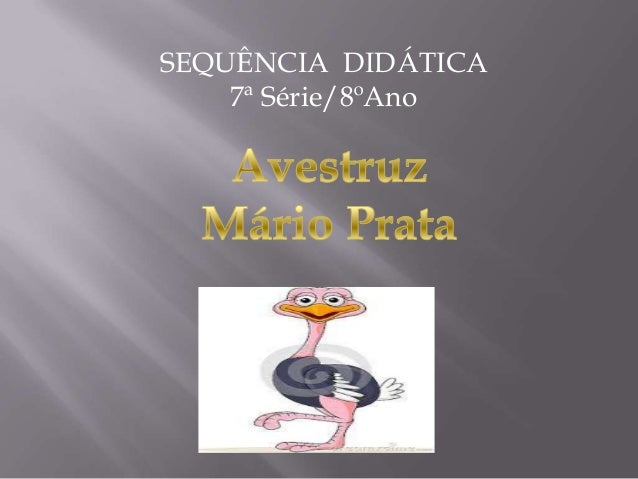 SEQUÊNCIA DIDÁTICA7ª Série/8ºAno