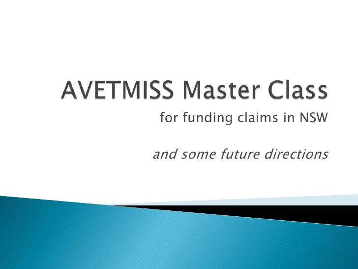 for funding claims in NSWand some future directions