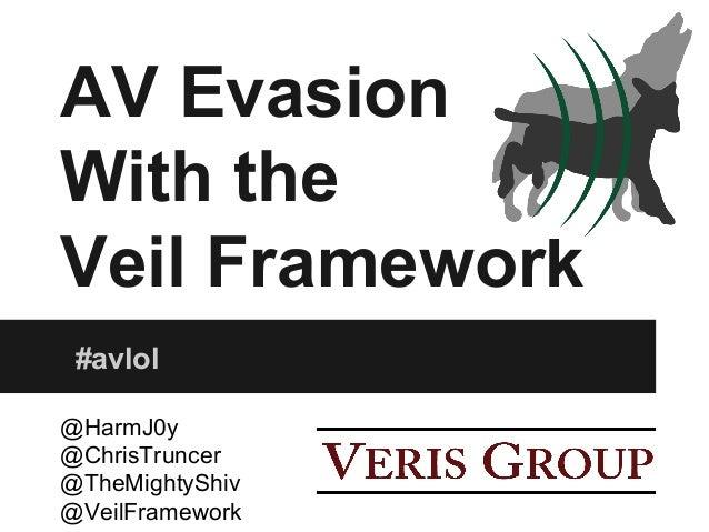 AV Evasion With the Veil Framework #avlol @HarmJ0y @ChrisTruncer @TheMightyShiv @VeilFramework