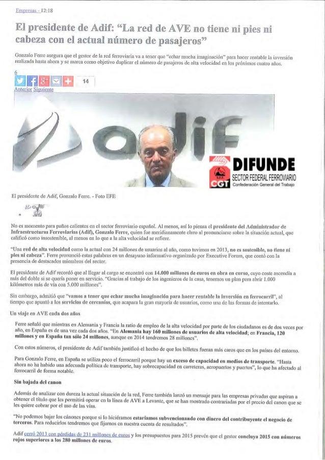 EXPANSION 08/10/14  MADRID  Prensa: Diaria  Tirada: 46.761 Ejemplares  Difusión: 30.464 Ejemplares  Página: 17  Cód: 86089...
