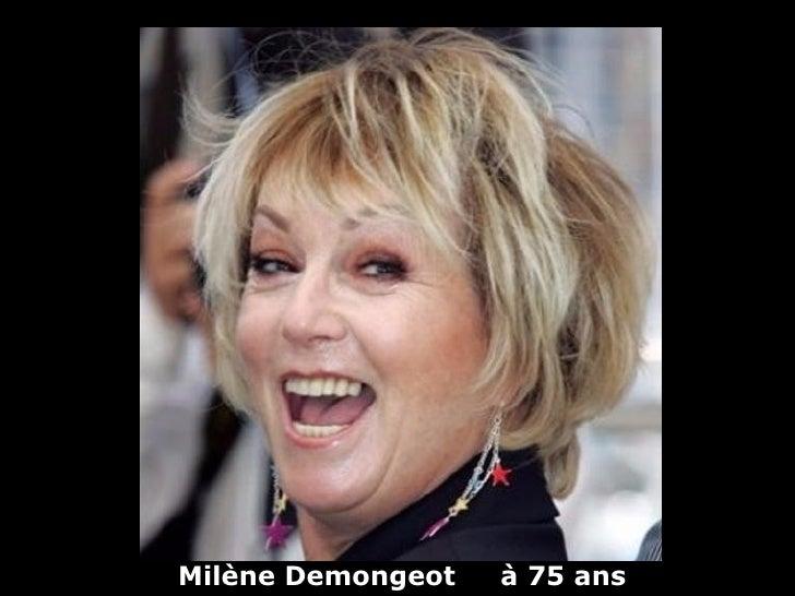 Milène Demongeot   à 75 ans