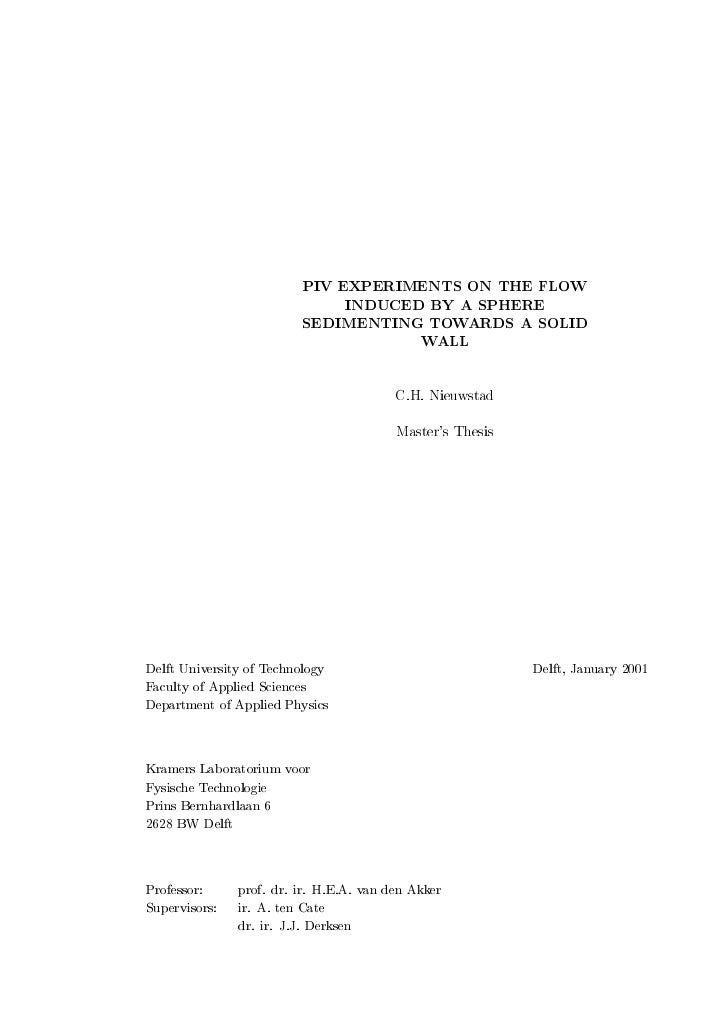 PIV EXPERIMENTS ON THE FLOW                              INDUCED BY A SPHERE                         SEDIMENTING TOWARDS A...