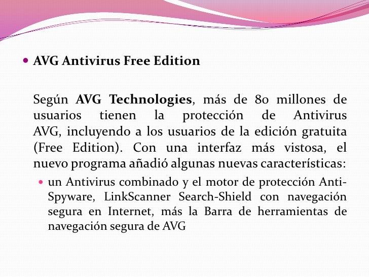 antivirus avg caracteristicas