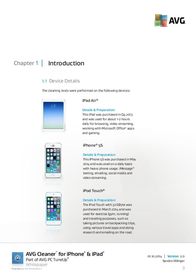 Features of AVG AntiVirus iPad