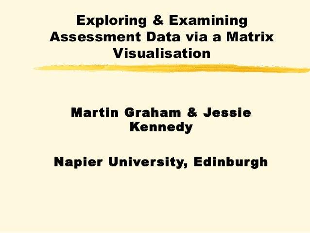 Exploring & Examining  Assessment Data via a Matrix  Visualisation  Mar tin Graham & Jessie  Kennedy  Napier University, E...