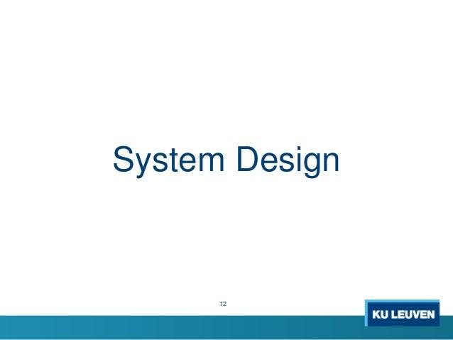 12 System Design